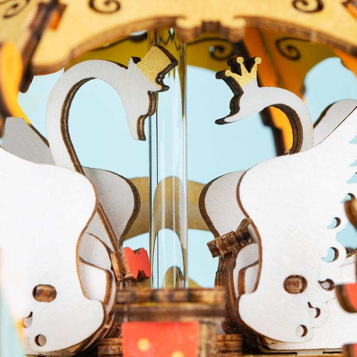Puzzle 3D Cutie Muzicala, Pumpkin Carriage, Lemn [3]