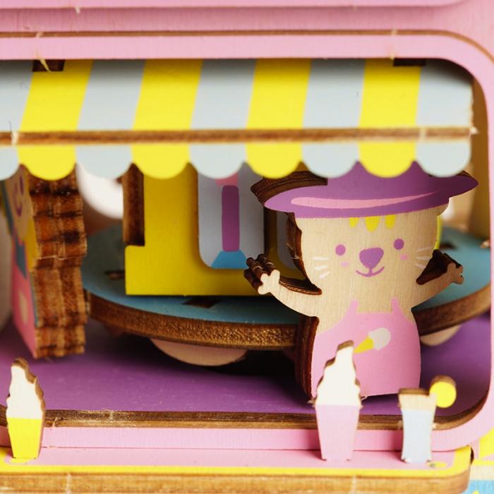 Puzzle 3D Cutie Muzicala, Moving Flavor, Lemn, 163 de piese [4]