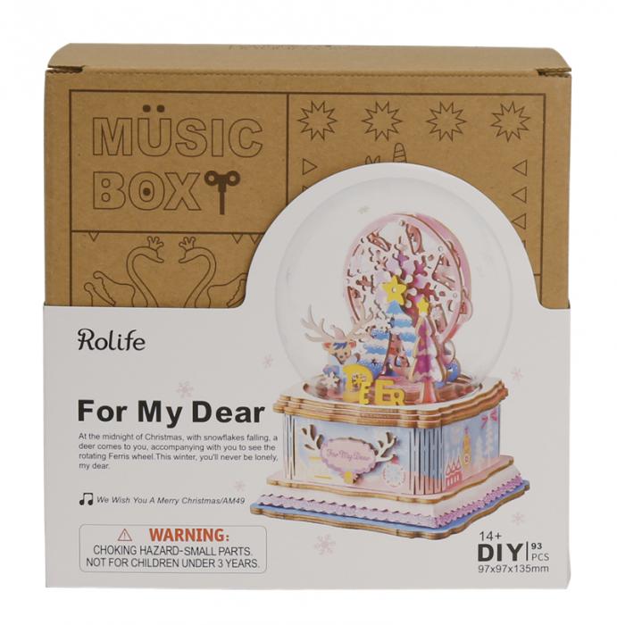 Puzzle 3D Cutie Muzicala, Iubitei mele, Lemn, 93 de piese 3