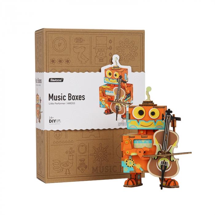 Puzzle 3D Cutie Muzicala, Micul artist Lemn 1
