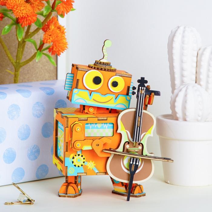Puzzle 3D Cutie Muzicala, Micul artist Lemn 3