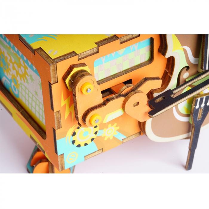 Puzzle 3D Cutie Muzicala, Micul artist Lemn 2