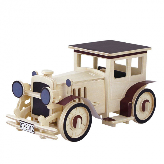 Puzzle 3D din lemn, Masina retro 1, 49 piese [0]