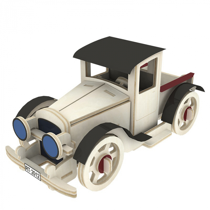 Puzzle 3D din lemn, Masina retro 3, 59 piese [0]
