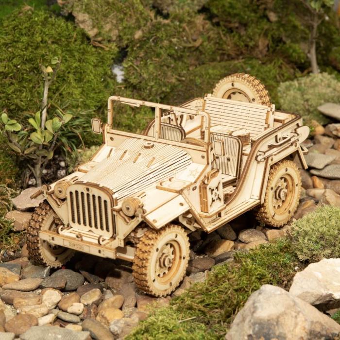 Puzzle 3D Jeep, Lemn, 369 piese [3]