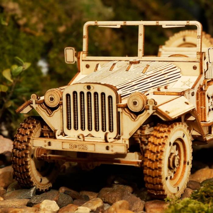Puzzle 3D Jeep, Lemn, 369 piese [4]