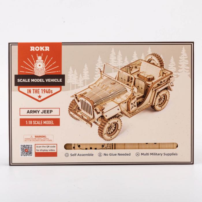 Puzzle 3D Jeep, Lemn, 369 piese [6]
