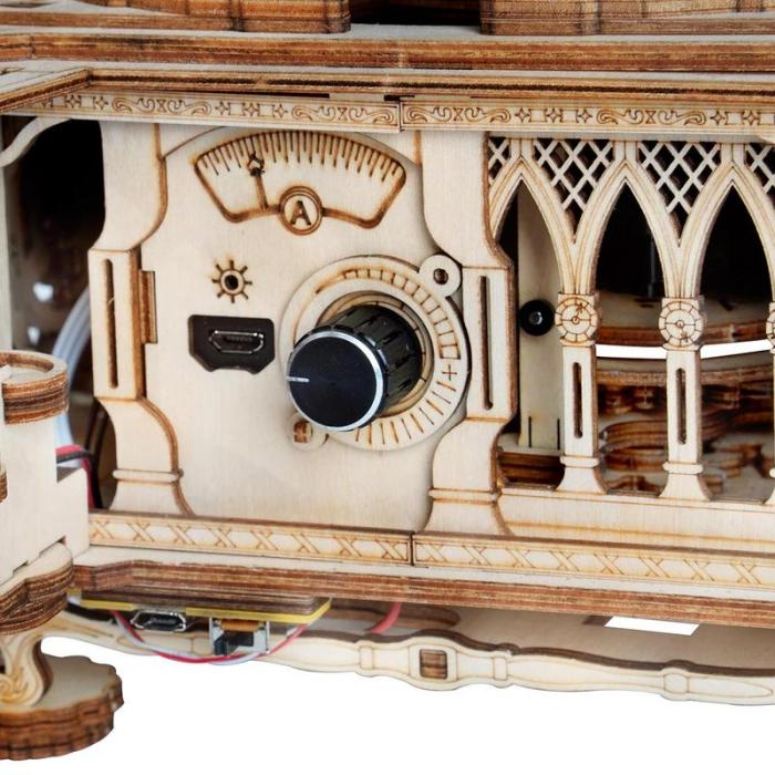 Puzzle 3D, Gramofon clasic, rotire cu manivela sau electrica [9]