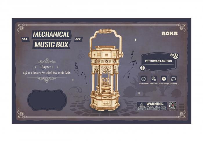 Puzzle 3D, cutiuta muzicala, Lanterna din era victoriana 1