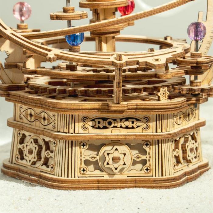 Puzzle 3D, lemn, cutiuta muzicala, Noapte Instelata [6]