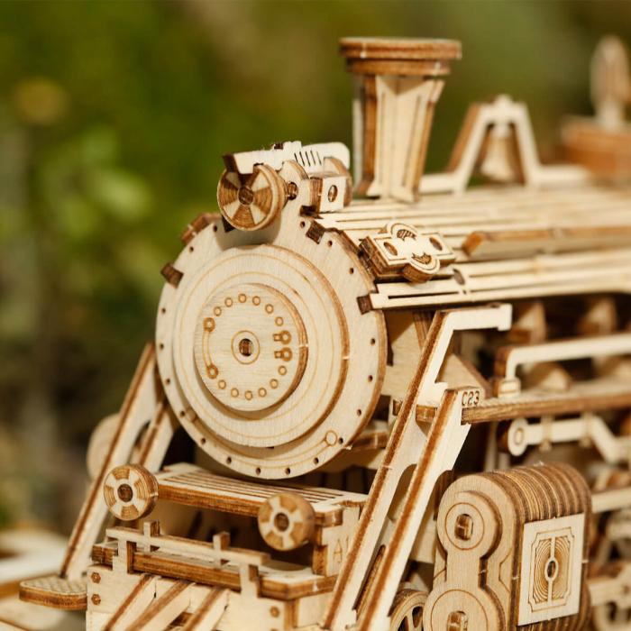 Puzzle 3D Locomotiva cu abur, Lemn, 308 piese 1