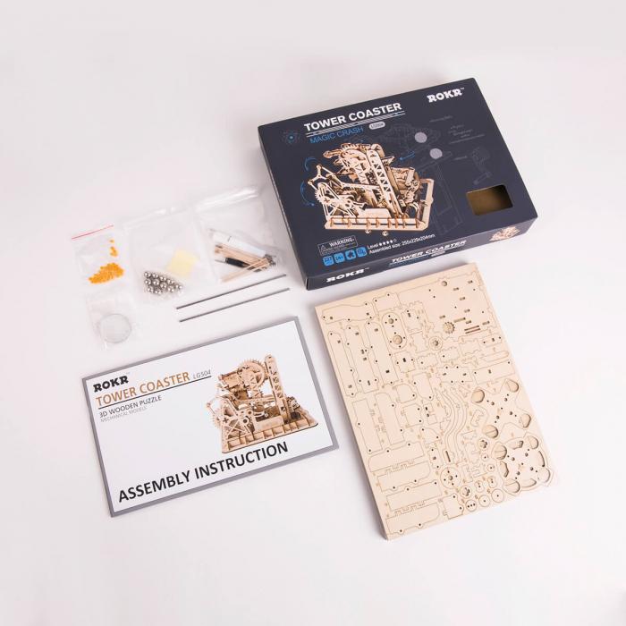Puzzle 3D Marble Climber, Lemn, 227 piese 7