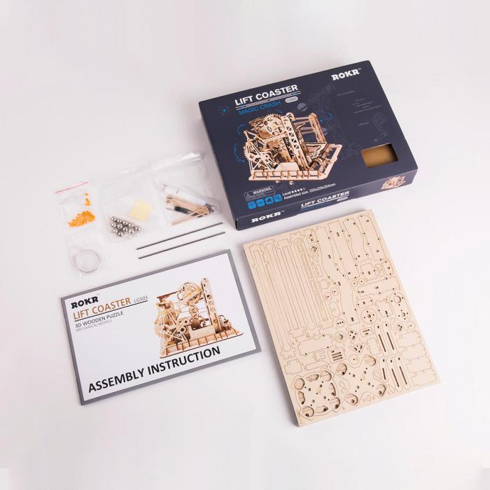 Puzzle 3D Marble Explorer, Lemn, 219 piese 4