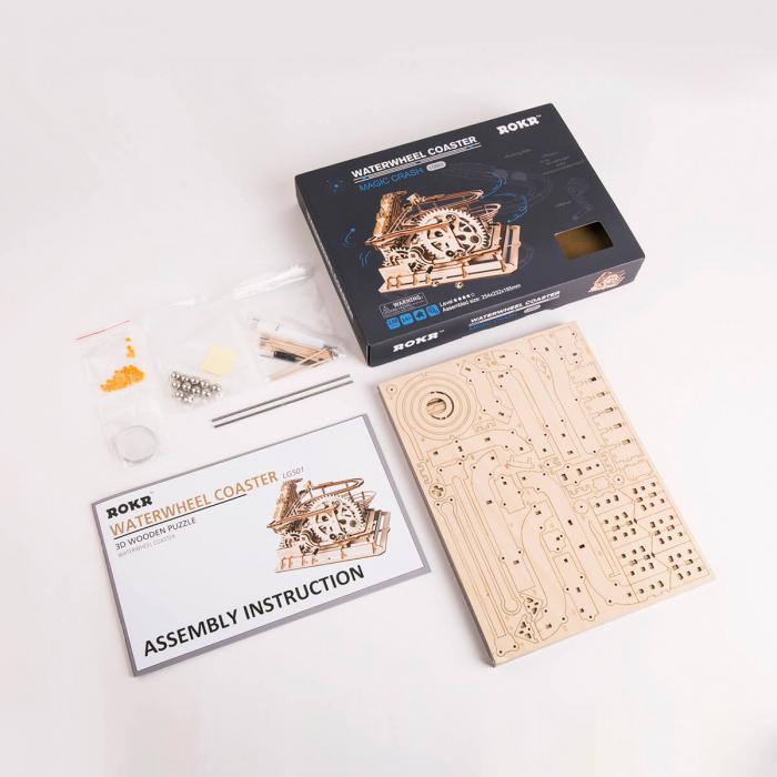 Puzzle 3D Marble Parkour, Lemn, 233 piese 6