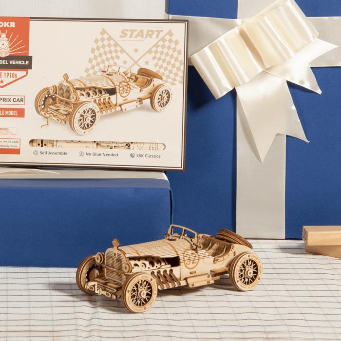 Puzzle 3D Masina de curse, Lemn, 220 piese 1