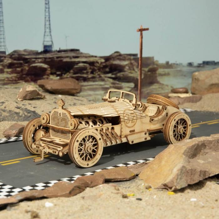 Puzzle 3D Masina de curse, Lemn, 220 piese 2