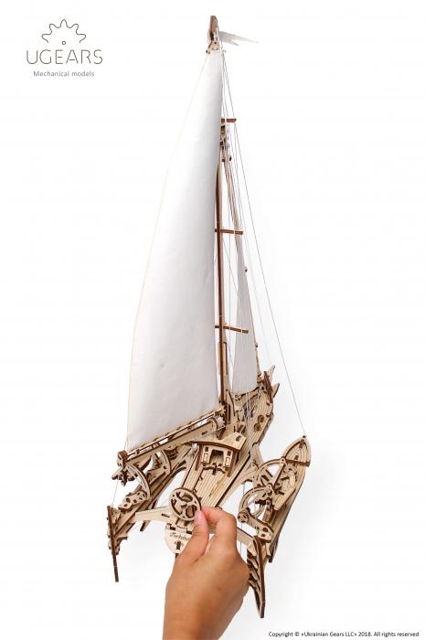 Puzzle 3D Mecanic, Barca Trimaran, 237 piese [1]