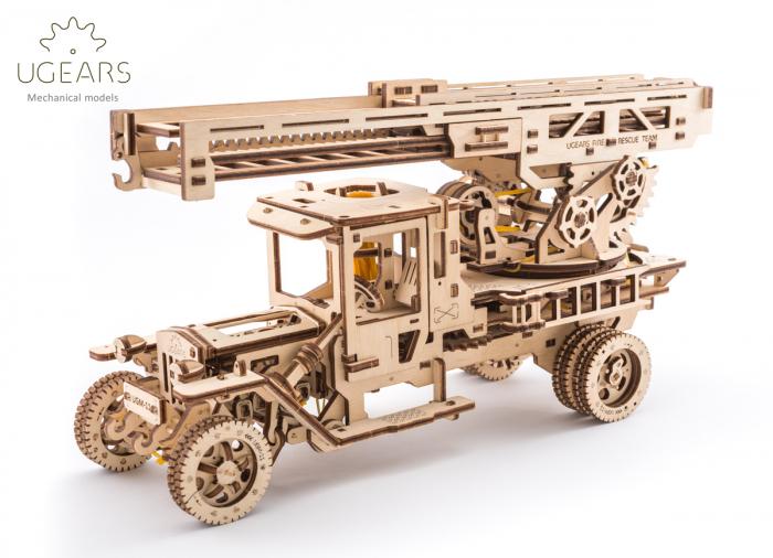 Puzzle 3D Mecanic, Camionul de Pompieri, 537 piese [0]