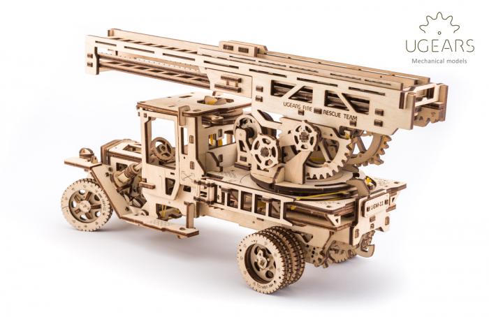 Puzzle 3D Mecanic, Camionul de Pompieri, 537 piese [8]
