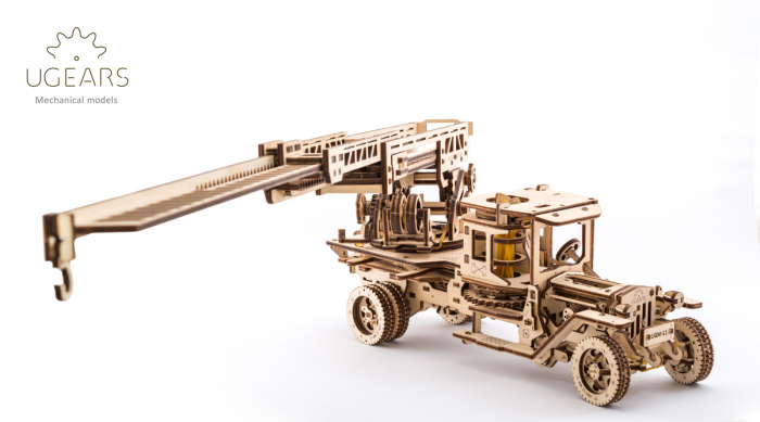 Puzzle 3D Mecanic, Camionul de Pompieri, 537 piese [4]