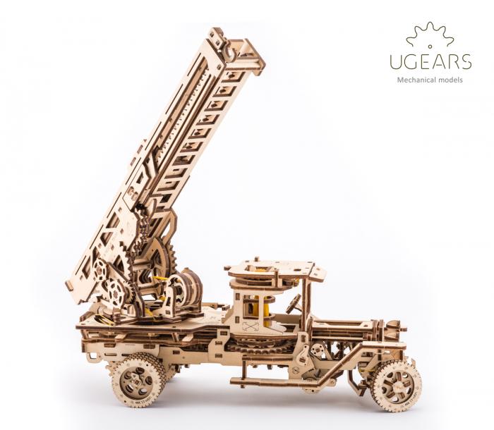 Puzzle 3D Mecanic, Camionul de Pompieri, 537 piese [2]