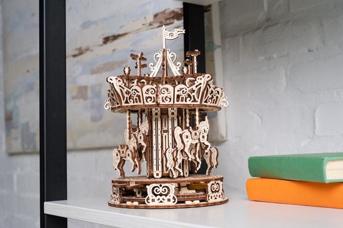 Puzzle 3D Mecanic, Carusel, 305 piese [3]