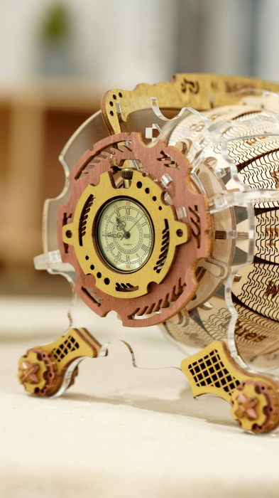 Puzzle 3D Mecanic , Ceas Calendar Masina Timpului, 250 piese 3