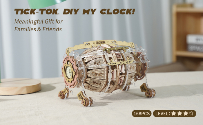 Puzzle 3D Mecanic , Ceas Calendar Masina Timpului, 250 piese 7