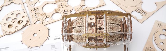 Puzzle 3D Mecanic , Ceas Calendar Masina Timpului, 250 piese 8