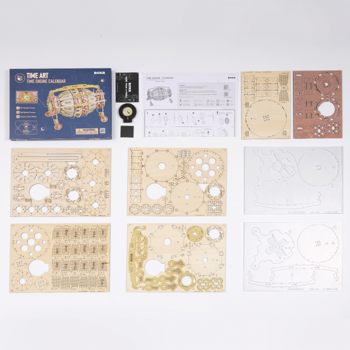 Puzzle 3D Mecanic , Ceas Calendar Masina Timpului, 250 piese 12