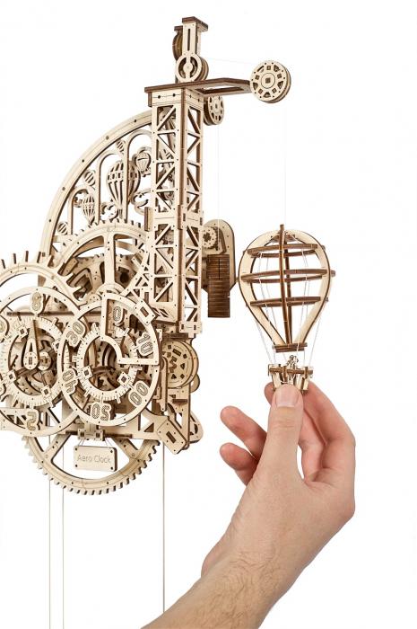 Puzzle 3D Mecanic, Ceas de perete cu pendul, 320 piese [2]