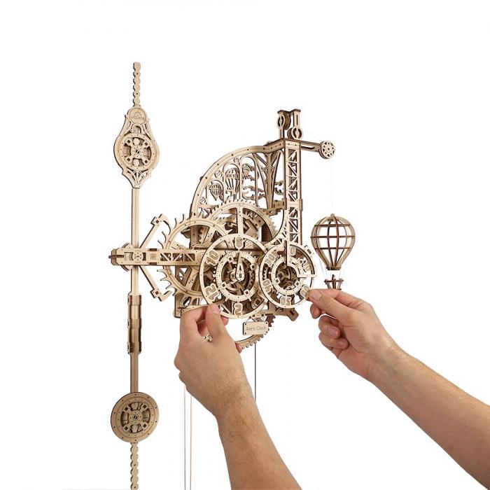 Puzzle 3D Mecanic, Ceas de perete cu pendul, 320 piese [6]