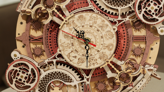 Puzzle 3D Mecanic, Ceas de perete Zodiac, 168 piese 2