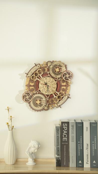 Puzzle 3D Mecanic, Ceas de perete Zodiac, 168 piese 9