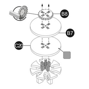 Puzzle 3D Mecanic, Ceas de perete Zodiac, 168 piese 3