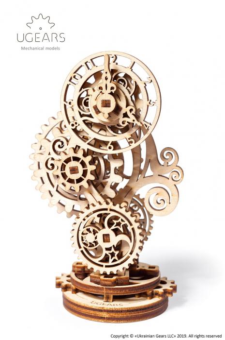 Puzzle 3D Mecanic, Ceas Steampunk, 43 piese [0]