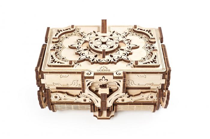 Puzzle 3D Mecanic, Cutie Antica de Bijuterii, 185 piese [1]