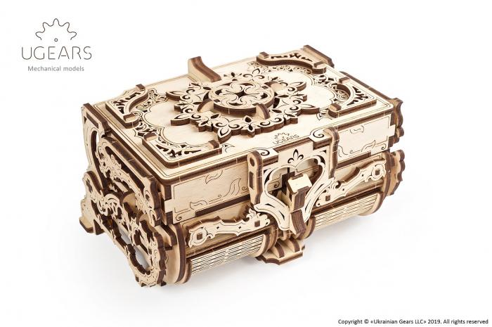 Puzzle 3D Mecanic, Cutie Antica de Bijuterii, 185 piese [0]