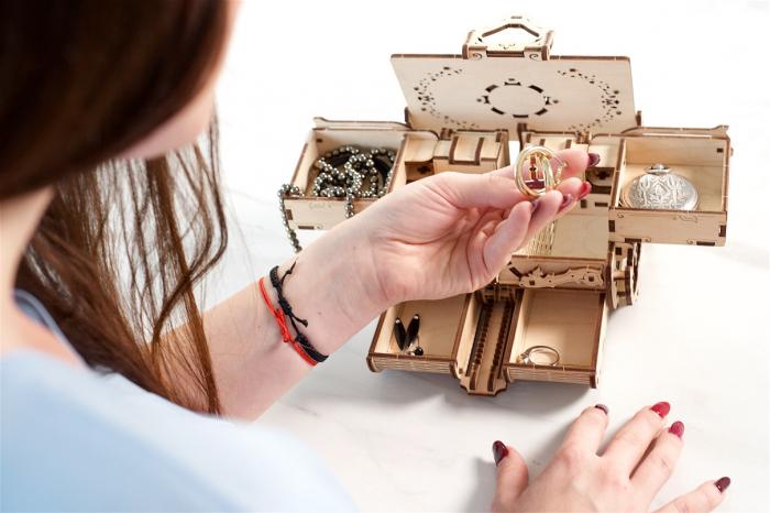 Puzzle 3D Mecanic, Cutie Antica de Bijuterii, 185 piese [6]