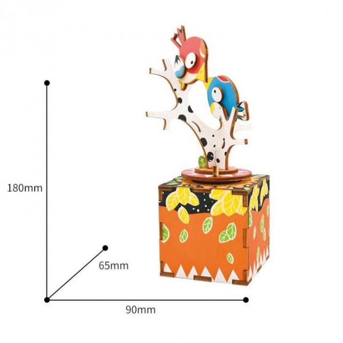 Puzzle 3D, Mecanic, Cutiuta muzicala, Cantec in copac, 33 piese [5]