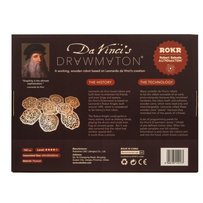 Puzzle 3D Mecanic Drawmaton, The Slayer, Lemn, 141 piese 4