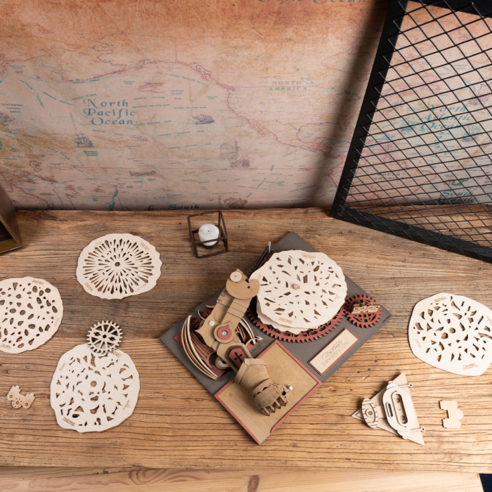 Puzzle 3D Mecanic Drawmaton, The Slayer, Lemn, 141 piese 2