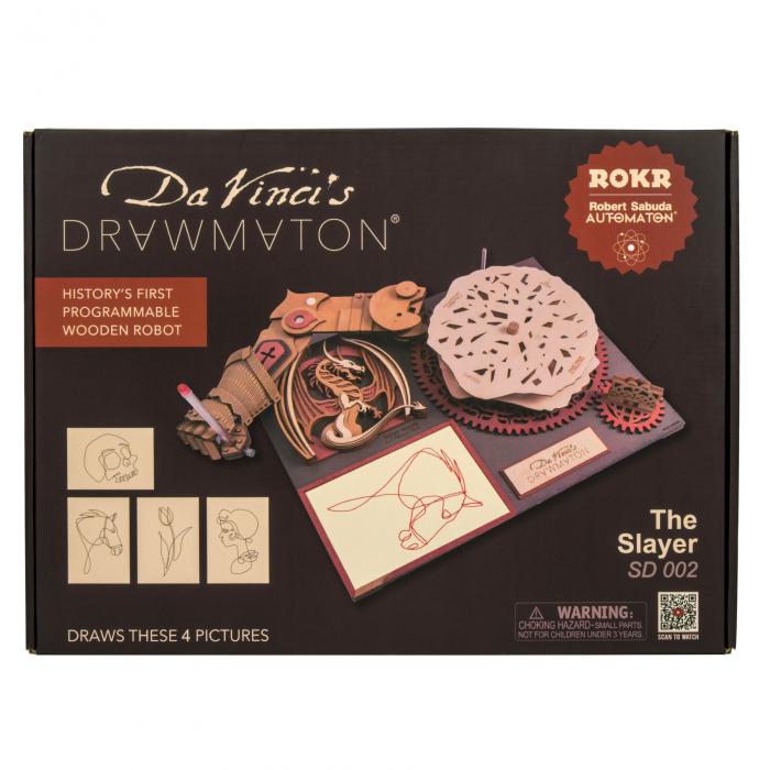 Puzzle 3D Mecanic Drawmaton, The Slayer, Lemn, 141 piese 3