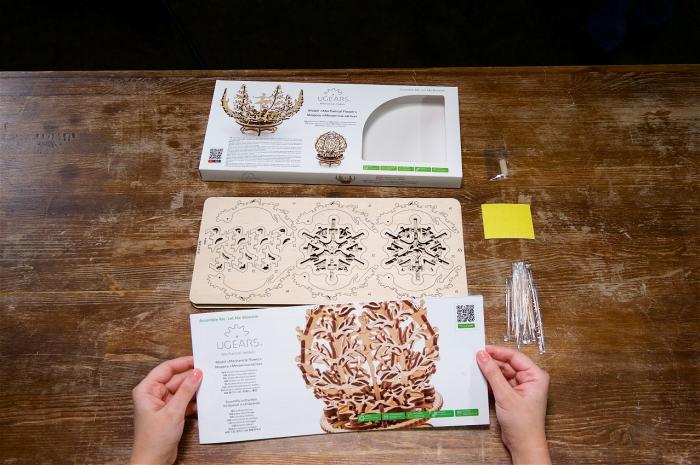 Puzzle 3D Mecanic, Floare Mecanica, 101 piese [5]