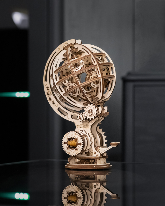 Puzzle 3D Mecanic, Glob kinetic 4