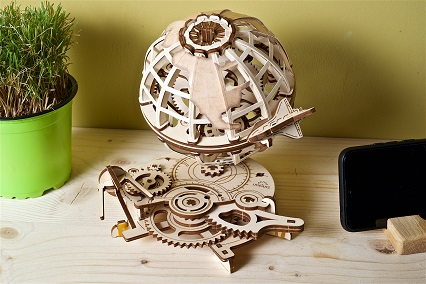 Puzzle 3D Mecanic, Glob Pamantesc, 184 piese [4]