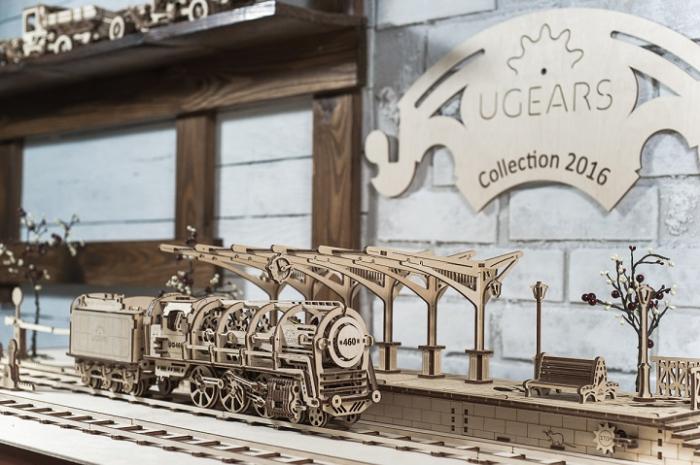 Puzzle 3D Mecanic, Locomotiva, 443 piese [7]