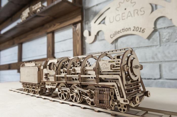 Puzzle 3D Mecanic, Locomotiva, 443 piese [5]