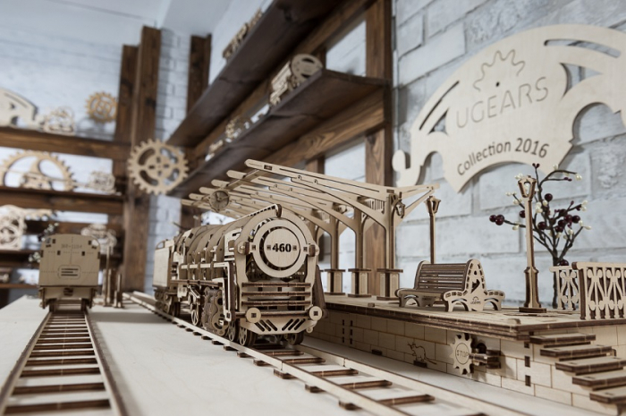 Puzzle 3D Mecanic, Locomotiva, 443 piese [8]