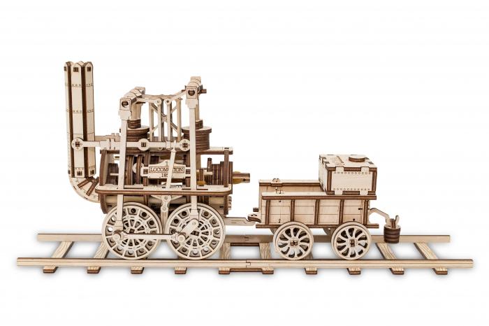Puzzle 3D Mecanic, Locomotiva cu abur 3